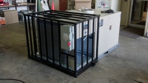 rooftop unit security cage